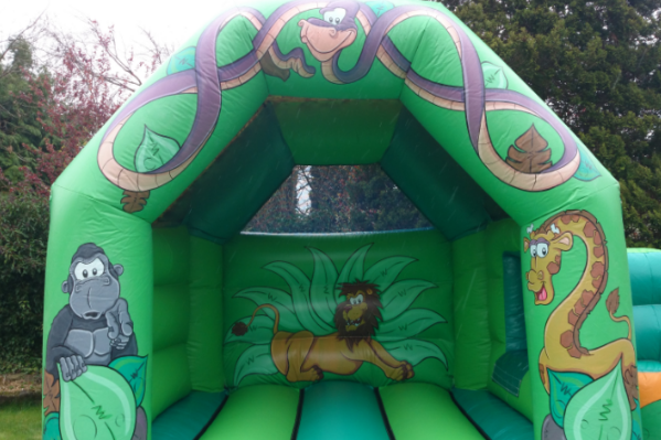 Jungle Combi Bouncy Castle large 7