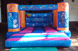 link to indoor frozen bouncy castle hire