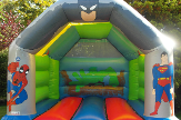 link to super hero bouncy castle hire