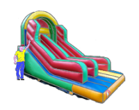 lint to inflatable slide hire